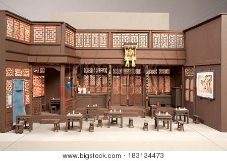 Model Of An Opera On Chinese Theatre