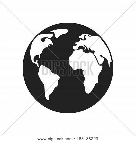 earth icon isolated on white background .