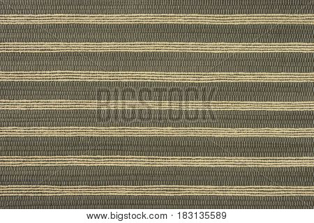 The texture of the striped bamboo canvas is shot close-up