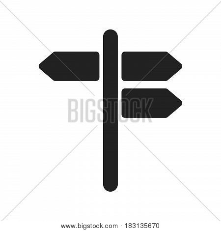 signpost icon isolated on white background .