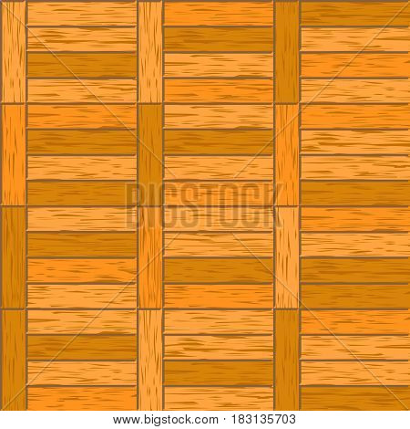 Abstract decorative old textured parquet floor vector background. Seamless tiling. Parquet hardwood material illustration.