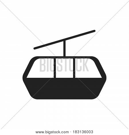 Cableway icon isolated on white background .