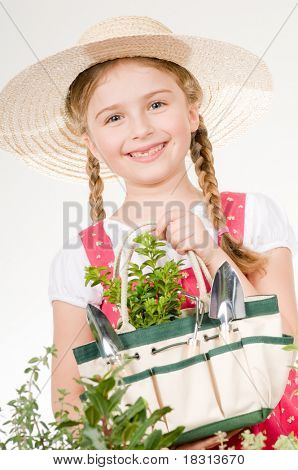 Beautiful little gardener