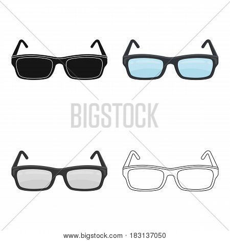 Glasses icon in cartoon design isolated on white background. Library and bookstore symbol stock vector illustration.