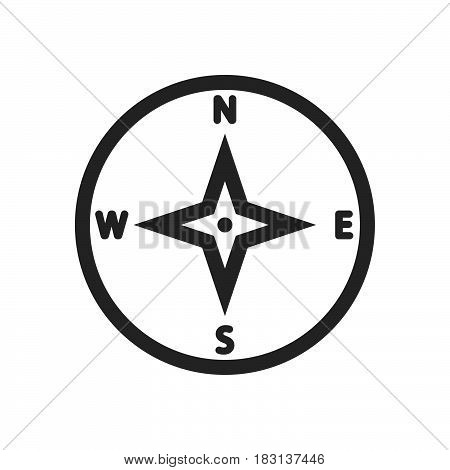 compass icon isolated on white background .