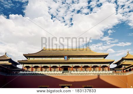 Image of the ancient royal palace of the Forbidden City in Beijing China