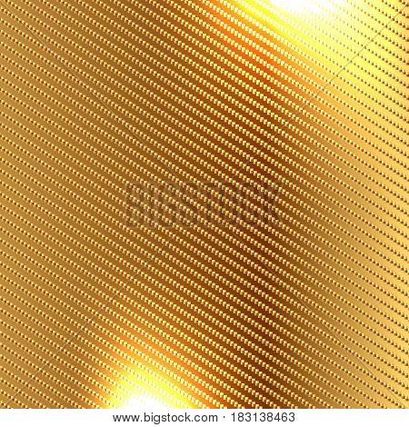 Golden carbon fiber kevlar texture background vector