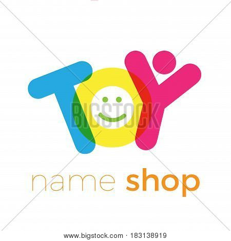Vector abstract icon toy store with text