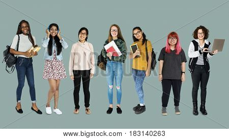 Diverse of Young Adult People Studio Isolated
