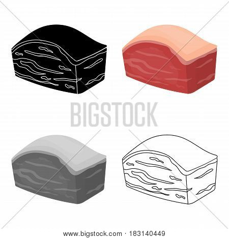 Pork belly icon in cartoon style isolated on white background. Meats symbol vector illustration