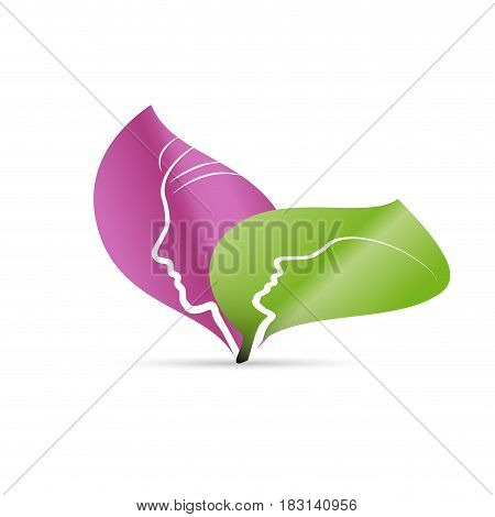 Vector sign spa yoga and relax isolated illustration