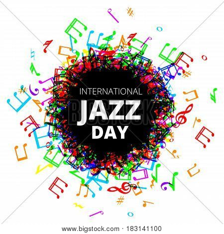 International Jazz Day illustration with sketch of saxophone