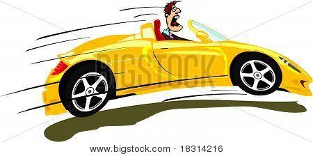 crazy driver & convertible