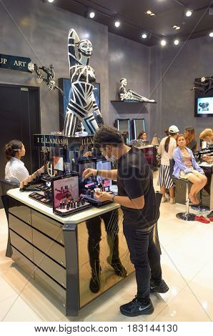 BANGKOK, THAILAND - JUNE 21, 2015: Illamasqua at a shopping center in Bangkok.