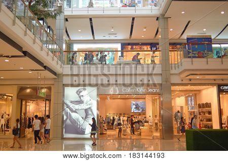 BANGKOK, THAILAND - JUNE 20, 2015: inside a shopping center in Bangkok.