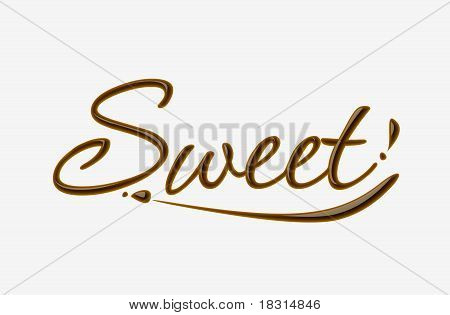 Chocolate Sweet Text