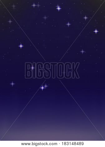 vector background. a starry night sky. template for design