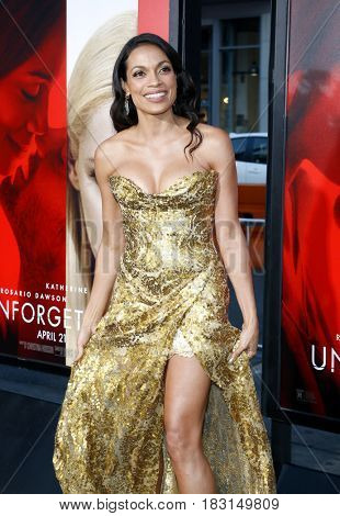 Rosario Dawson at the Los Angeles premiere of 'Unforgettable' held at the TCL Chinese Theatre in Hollywood, USA on April 18, 2017.