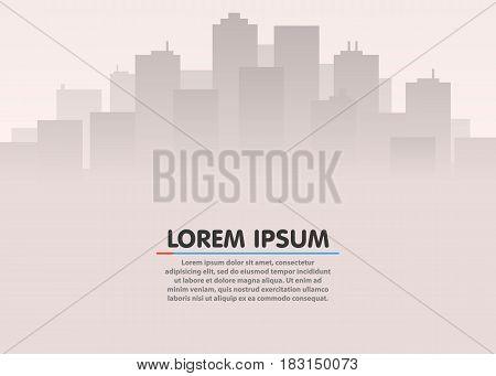 City skyline. Urban city landscape. Flat style cityscape. Cityscape in flat style. Cityscape backgrounds. Vector illustration