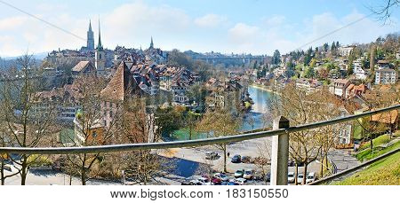 Panorama Of Old Bern