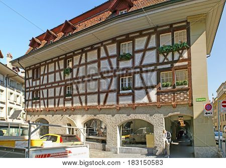 The Half-timbered House In Berne