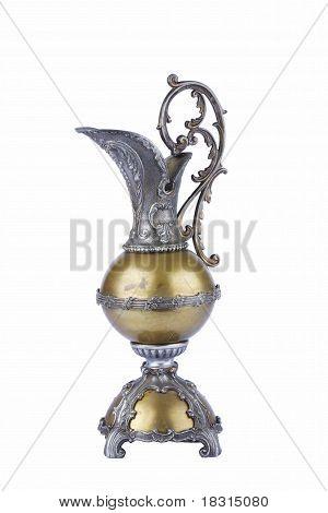 Old style metal jug