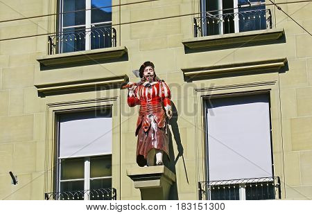 The Butcher's Statue In Berne