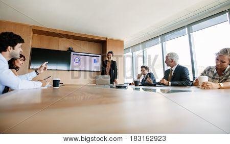 Team Meeting Discussing Business Strategy