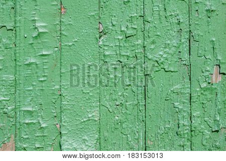 chipped paint on the door of the old boards, texture background