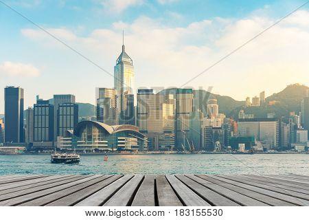 Hong Kong downtown on daylight shot., Hong Kong