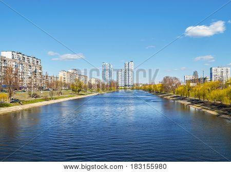View of Kiev Ukraine Banks of the Dnieper river
