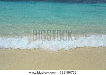 Paradise beach in Klein Bonaire island Caribbean Sea