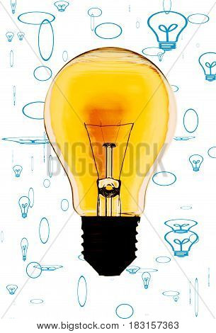 Electric bulb isolated on a white background