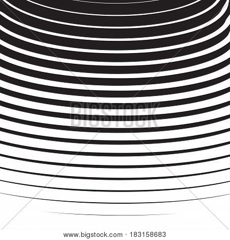 Halftone Radial Pattern Background Striped. Vector Lines Texture