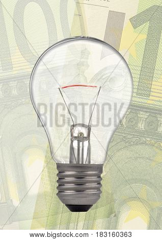 A bulb isolated on a background euro