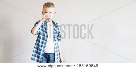 Child Drinks Pure Water