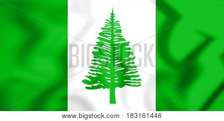 3D Flag Of Norfolk Island.