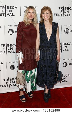 NEW YORK-APR 22: Dree Hemingway (L) and Juliet Rylance attend the Love After Love' screening at SVA Theatre during the 2017 TriBeCa Film Festival on April 22, 2017 in New York City.