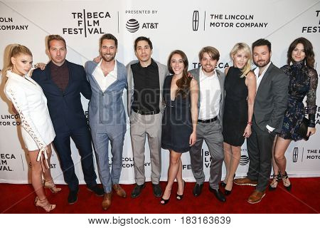 NEW YORK-APR 22: The cast of 'Literally, Right Before Aaron' attends the screening at SVA Theatre during the 2017 TriBeCa Film Festival on April 22, 2017 in New York City.