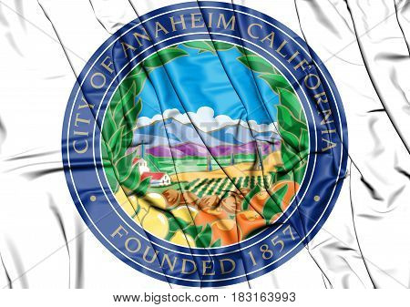 Seal Of Anaheim (california), Usa.