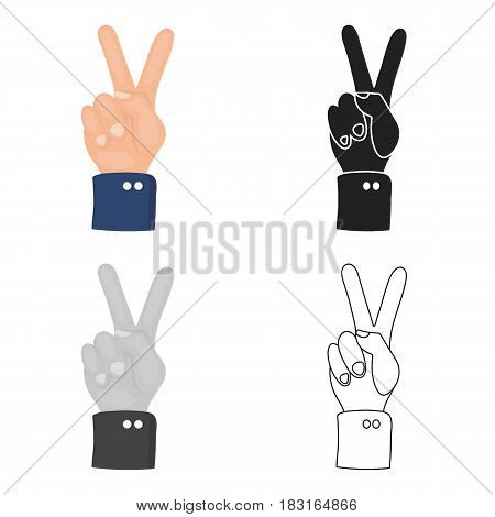 Peace icon in cartoon style isolated on white background. Patriot day symbol vector illustration.