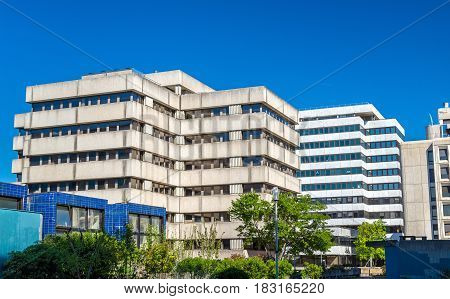 Office buildings from 1970s-1980s in the Meriadeck district of Bordeaux - France