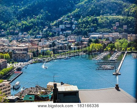 Aerial View Of Como (hdr)