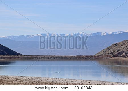 Reflections in a lake in Utah, USA