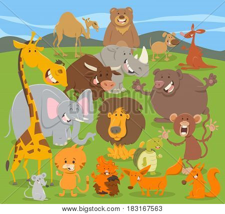 Cute Animal Characters Group