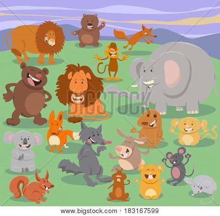 Wild Animal Characters Group