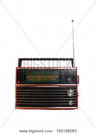 the radio isolated on a white background