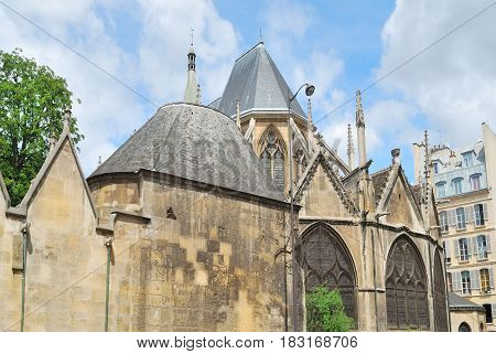 Paris France. The church of St. Severin one of the oldest churches in the city