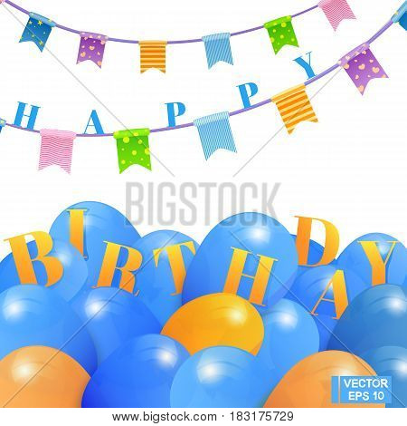 Postcard With Balloons, Happy Birthday