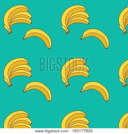 banana vector illustration. seamless pattern.Vector.food pattern. bananas pattern. fruit pattern